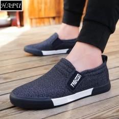 Giày lười vải nam thời trang và lịch lãm Fashion - HAPU - LFS002 (xanh than)